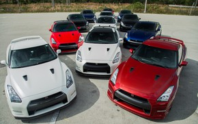 Picture GTR, Nissan, Blue, Black, White, R35, RED
