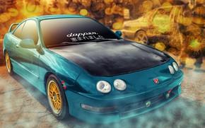 Picture background, car, Honda Integra