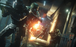 Picture explosion, fire, flame, game, soldier, weapon, Rainbow Six, man, shotgun, shot, Tom Clancy's, pearls, spark, …
