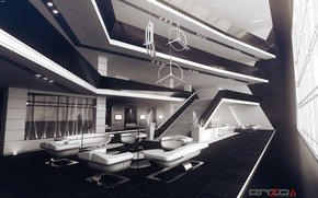 Picture design, furniture, interior, the room, The lobby