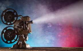 Wallpaper projector, retro, hi-tech, movie, coil, film, bokeh, wallpaper., blur, projector, technology, cyberspace, light rays, the ...