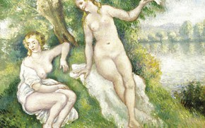 Picture Bathers, erotic, Georges Henri Manzana Pissarro, Georges-Henri Manzana-Pissarro, picture