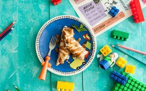 Picture food, Breakfast, designer, pancakes, caramel