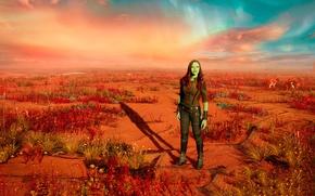 Picture cinema, movie, film, Zoe Saldana, Gamora, Guardians Of Galaxy Vol 2, Guardians Of Galaxy