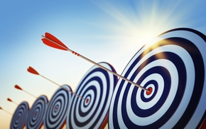 Wallpaper goal, art, arrow, arrows, target, the shooting range, arrows, wallpaper., target, the bull's-eye, sky sun ...