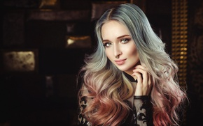 Picture look, model, portrait, makeup, hairstyle, blonde, beauty, Alberta, Nikolas Verano