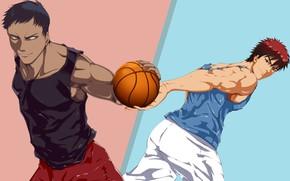 Picture anime, art, guys, Kuroko's Basketball, No Basuan of the kur