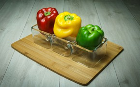 Picture red, pepper, paprika, green, yellow