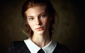 Picture portrait, freckles, the beauty, Alexander Vinogradov, Dasha Milko, Alexander Vinogradov