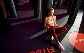 Wallpaper Hanna, punching bag, the gym, girl, sports