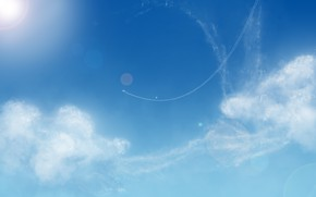 Picture the sky, clouds, glare, mrDimkaP
