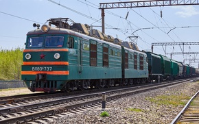 Picture Locomotive, Train, Electric, ВЛ80К
