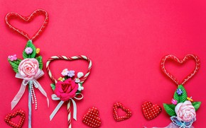 Picture Love, Flowers, Hearts, Holiday, Valentine's day