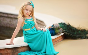 Picture nature, bird, girl