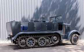 Picture tractor, artillery, half-track, Sd Kfz 6, 5 tons, force, with traction