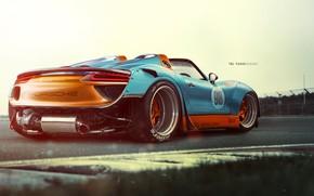 Picture Auto, Figure, Porsche, Machine, Background, Car, Car, Art, Art, Spyder, 918, Rendering, Porsche 918, Porsche …