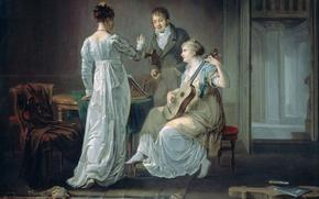 Picture tree, oil, picture, Music, genre, Louis Moritz
