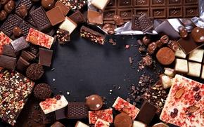 Wallpaper dark, chocolate, nuts, sweet, delicious, nuts, milk, chocolate, sweet, dessert, candy, candies, piece
