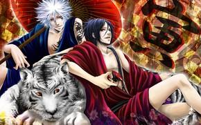 Picture art, guys, Byakuran, Katekyo Hitman REBORN!, Mukuro, Rokudo