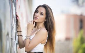 Picture summer, look, background, model, hair, beauty, Carlotta