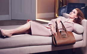 Wallpaper Amy Adams, coat, girl, photoshoot, bag