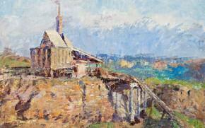 Picture landscape, picture, Frederick McCubbin, Frederick Mak-Cabin, The Richmond Stone Crusher