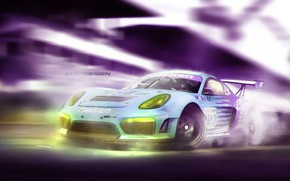 Picture Auto, Porsche, Machine, Movement, Cayman, Car, Art, Rendering, GT4, German, Yasid Design, Porsche Cayman GT4, …