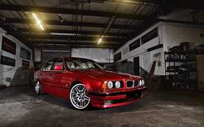 Picture BMW, E34, RED, 540i
