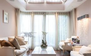 Picture sofa, interior, window, living room