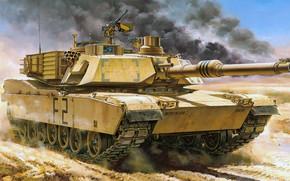 Wallpaper MBT, main battle tank, Abrams, Abrams, M1A2, USA