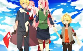 Picture happy, Naruto, sky, anime, cloud, ninja, hero, asian, manga, hokage, shinobi, japanese, Haruno Sakura, Uzumaki …