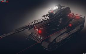 Picture weapons, tank, laser, Light tank concept