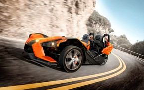 Picture street, speed, comfort, hi-tech, Polaris, fast, Slingshot, technology, sporty, tricycle