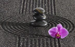 Picture energy, stone, Japan, garden, Japan, stone, Zen, energy, garden, philosophy, Zen, sand monk