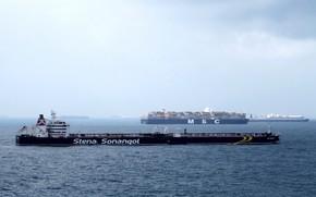 Wallpaper sea, the sky, ships