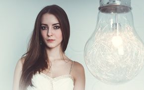 Picture light, girl, fashion, dress, studio, style, blue, eyes, model, pretty, people, mood, color, lips, jeans, …