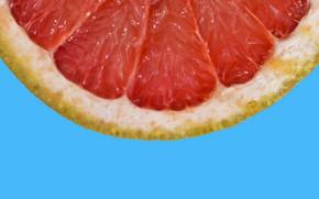 Picture macro, fruit, grapefruit