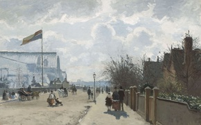 Picture London, picture, the urban landscape, Camille Pissarro, Crystal Palace