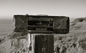 Picture sand, dirt, Sony, cassette, tape, DECA, radio