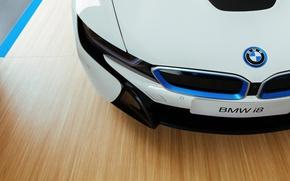 Picture car, BMW, logo, technology, BMW I8, by Jeferson Felix
