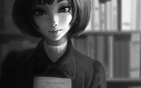 Picture eyes, look, girl, face, anime, art, book