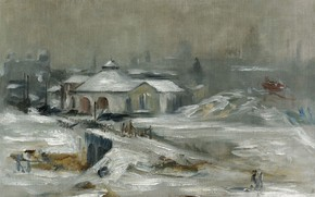 Picture landscape, picture, Edouard Manet, Eduard Manet, Station With