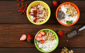 Picture berries, Breakfast, fruit, nuts, muesli, cereal