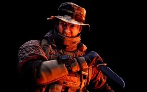 Picture gun, game, soldier, weapon, Battlefield, rifle, knife, uniform, seifuku, Battlefield 4, dagger, Battlefield IV