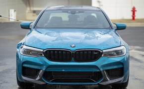 Picture BMW, Blue, Front, Face, F90