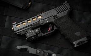 Wallpaper weapons, Glock, weapon, ZEV custom, Glock, gun, pistol, custom, gun