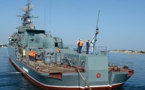 Wallpaper sea, ship, Black, Navy, Sevastopol, guard, Inquisitive