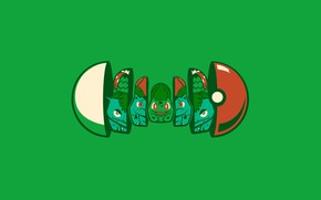 Picture flower, green, seed, pokemon, pokemon, pokeball, matryoshka, pokebol, bulbasaur, venusaur, herbal, onion, ivysaur