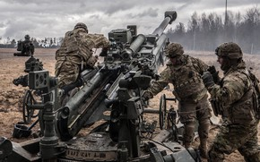 Picture soldiers, Howitzer, Howitzer