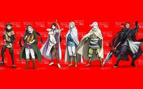 Picture red, sword, game, armor, big, anime, ken, blade, bow, warrior, manga, arrow, oppai, sugoi, bishojo, …